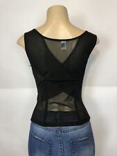 Body shaper 3 Sizes Loop Sides Support Slimmer Top Size XL black stretch NEW