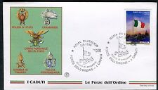 ITALY 1998 POLICE CORPS/HONORING the FALLEN/FLAG at HALF MAST/CEMETERY FDC