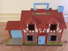 FP FISHER PRICE LITTLE PEOPLE #952 VINTAGE 1969 FAMILY DOLL HOUSE PLASTIC CLEAN