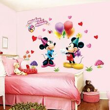 Mickey Mouse and Minnie Vinyl Wall Decals Sticker Baby Nursery Kids Room Decor