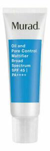 Murad Oil And Pore Control Mattifier SPF 45   PA++++ 1.7 oz. New no box