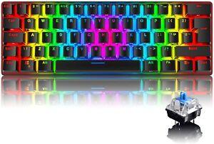 UK Layout 60% Mechanical Gaming Keyboard 61 Keys RGB Backlit for PC Mac Office