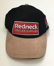 Redneck Trailer Supplies Hat Black Red Tan Suede Bill Strapback New