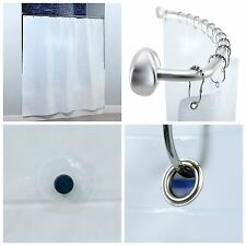 """82"""" x 74"""" Extra Wide PEVA Shower Curtain Liner with Microban for Curved Rods"""