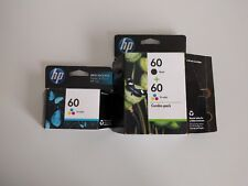 Genuine HP 60 BLACK & 2 TRI-COLOR Combo-Pack Ink Cartridges 01/2012 NEW