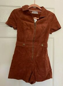 Urban Outfitters Brown Tyson Cord Playsuit Size S Brand New With Tags UK Seller