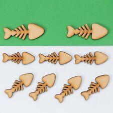Wooden Mdf Fish Bone Shape Craft Embellishments Decoration Heart Gift