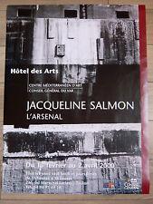 JACQUELINE SALMON Affiche originale ARSENAL Toulon Var PHOTO ARCHITECTURE Marine