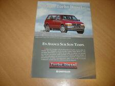 DEPLIANT Chrysler Voyager Turbo Diesel de 1994