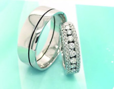 .65 Carat Diamond White Gold Wedding Rings 14K (MTO) sep