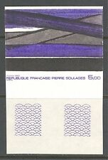 ART: ABSTRACT PAINTING BY PIERRE SOULAGES ON FRANCE 1986 Scott 2005 IMPERFORATE