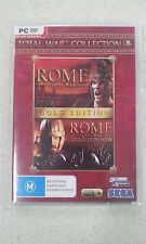 Rome Total War + Barbarian Invasion Gold Edition PC Brand New and Sealed