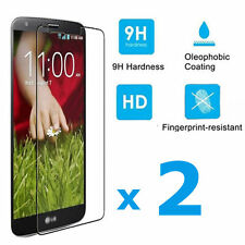 2 Pack Premium Real Tempered Glass Screen Protector For LG G2 G 2 D801 D802 980