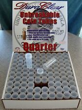 500 QUARTER COIN TUBES - NEW - Screw-on Tops - DuraClear Tubes - Made in U.S.A.