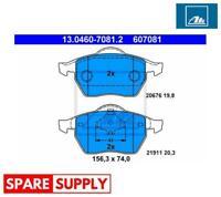 BRAKE PAD SET, DISC BRAKE FOR AUDI SEAT SKODA ATE 13.0460-7081.2