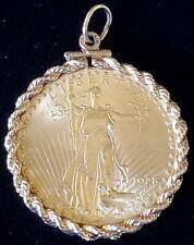 BU 1928 St. Gaudens Saint Gaudens Double Eagle $20 Gold Coin w/ 14k Gold Bezel H