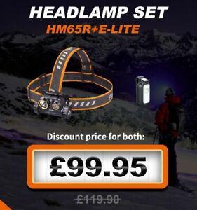 Fenix HM65R+ E-Lite Headlamp Christmas Gift Set  - 1400 Lumens