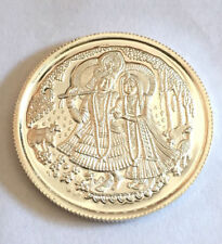 999 SILVER 10 GRAMS RADHA KRISHNA - SHRI COIN in certicard packing