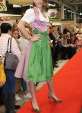 Dirndl Moser Brokat Seide pink / rosa Grün 34 XS 65cm Damen Mädchen Kleid Traxht
