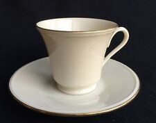Lenox Special L31 Footed Cup and Saucer Ivory with Gold Trim