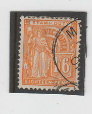 Stamp 1/6 orange Allegorical Figure Victoria cancelled to order, hinged