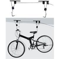 Bike Lift Ceiling Mount Bicycle Hoist Storage Rack Garage Mounted Hanger Pulley