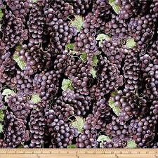 NEW Farmer John's Organic Grapes 100% cotton fabric by the yard