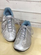 Ryka Womens Sneakers Gray Embroidered Shoes Size 6