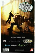 BIOSHOCK PlayStation 3 PS3 teaser (Big Daddy - Sister) video game print ad page