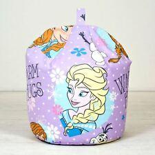 Disney Frozen Crystal Elsa Anna Olaf Kids Childrens Girls Purple Bean Bag Filled