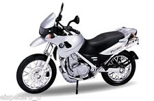 BMW F650 GS argent, Welly Moto Modèle 1:18, Neuf, EMBALLAGE D'ORIGINE