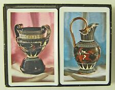 Stardust PLAYING CARDS Antique Etruscan Pottery 2 Complete Decks in Box