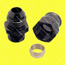 "AN8 Male to 1/2"" (12.7mm) Hardline Tube Fitting Adapter - Black"