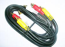 Pro Gold 3 Phono Heavy Duty Oxygen Free Triple RCA Lead Video Audio AV 3M Cable