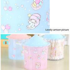 Cosmetic Makeup Organizer Case Q-tip Storage Holder Cotton Pad Swab Box