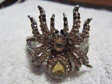 Spider Rhinestone Silvertone Bracelet.  Very Unique!!