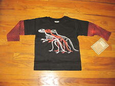 Mulberribush Tumbleweed Cool Layered Look Dinosaur L/S T-Shirt  - Boy's 3T - NWT