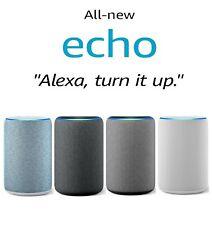 Amazon Echo Smart Speaker (3rd Generation) with Alexa - New & Sealed - UK Plug !