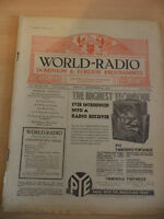 OLD VINTAGE WORLD RADIO TIMES 1930s MAGAZINE 26 SEPT 1930 BBC foreign programme