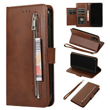 For iPhone 11 Pro Max Case Luxury Magnetic Flip Leather Card Wallet Zipper Cover