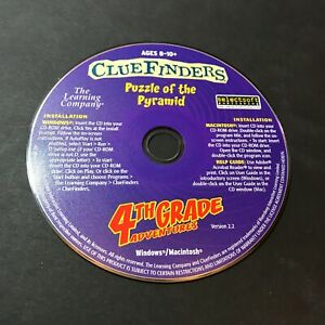 ClueFinders 4th Grade Adventures: Puzzle of the Pyramid (PC) Discs Only #40857