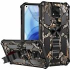 for Motorola Moto G Power 2021 Case Tactical Ring Stand Armor Cover+ Prytool