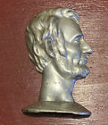 Vintage & Collectible Abraham Lincoln Silver Metal- One Bookend- Nice Detail