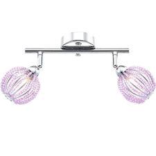 Deckenleuchte Globo Balken Lampe Kugelkopf Violett  Halogen Leuchte Flur Licht