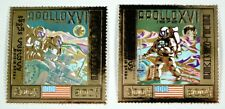 Kambodscha Khmere 1972 Space Apollo 16 Raumfahrt Gold 349-50 A Postfrisch MNH