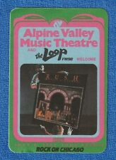 RUSH MOVING PICTURES TOUR PASS/BACKSTAGE 7/4/1981 ALPINE VALLEY MINT!! UNPEELED