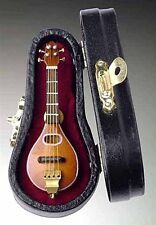 "Miniature Musical Instrument - 3"" MANDOLIN MINIATURE WITH CASE  (CM7)"