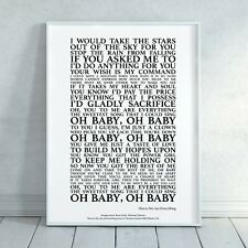 You To Me Are Everything - The Real Thing Song Lyrics Print Poster (Unframed)