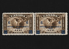 1932 Canada Air Mail Overprint Pair Sc#C4 Mint Hinged