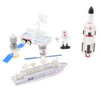 Kids Space Shuttle Playset con Rockets Satelliti Veicoli Aircraft Set A